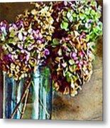 Autumn Hydrangeas Photoart Metal Print