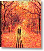 Autumn In Central Park Metal Print