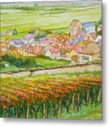 Autumn In Epernay In The Champagne Region Of France Metal Print