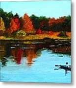 Autumn In Michigan Metal Print