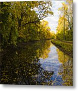 Autumn In Morrisville Pa Along The Delaware Canal Metal Print