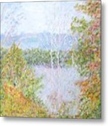 Autumn By The Lake In New Hampshire Metal Print