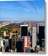Autumn In New York City Metal Print