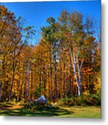 Autumn In North River New York Metal Print