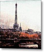 Autumn In Paris Metal Print