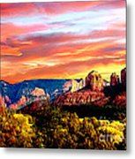 Autumn In Red Rock State Park Metal Print
