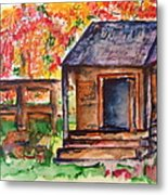 Autumn In The Backwoods Metal Print
