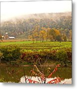 Autumn In The Butternut Valley-six Metal Print