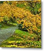 Autumn In The Garden Metal Print