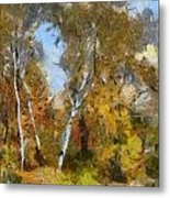 Autumn In The Marshes Metal Print