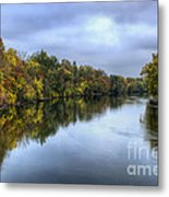 Autumn In The River Metal Print