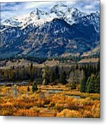 Autumn In The Tetons Metal Print
