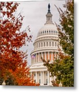 Autumn In The Us Capitol Metal Print
