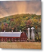 Autumn In Wellsboro Metal Print