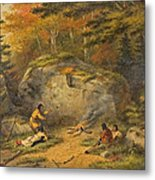 Autumn In West Canada Chippeway Indians Metal Print