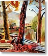 Autumn Jon Boats I Metal Print