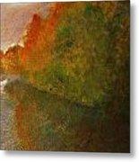 Autumn Lake View  Metal Print