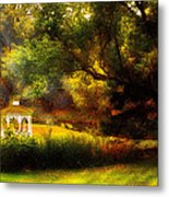 Autumn - Landscape - Past And Present Metal Print