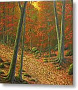 Autumn Leaf Litter Metal Print