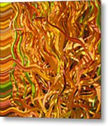 Autumn Leaves 5 - Abstract Photography - Manipulate Images Metal Print