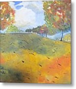 Autumn Leaves Panel 2 Of 2 Metal Print