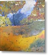 Autumn Leaves Panel1 Of 2 Panels Metal Print