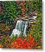 Autumn Magic Paint Metal Print
