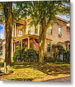 Autumn Mansion 4 - Paint Metal Print