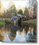 Autumn Morning At Mabry Mill Metal Print