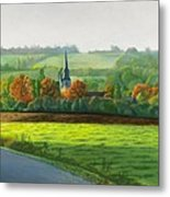 Autumn Morning At St Ulphace Metal Print