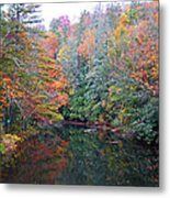 Autumn Mountain Stream Metal Print