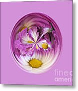 Autumn Mum Orb Abstract Metal Print