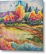 Autumn Near Taos Metal Print