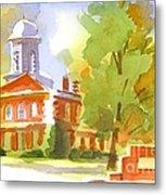 Autumn Observations Watercolor Metal Print