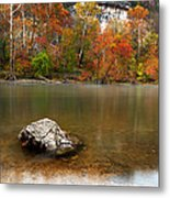 Autumn On Meramec River Metal Print