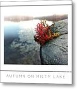 Autumn On Misty Lake Poster Metal Print