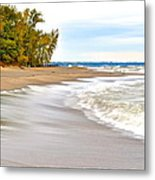 Autumn On The Beach Metal Print