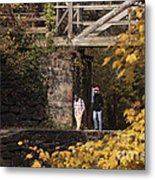 Autumn On The C And O Canal Metal Print