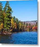 Autumn On The Fulton Chain Of Lakes In The Adirondacks IIi Metal Print