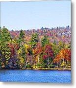 Autumn On The Fulton Chain Of Lakes In The Adirondacks Iv Metal Print