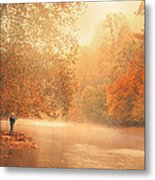 Autumn On The River Metal Print by Dorothy Walker