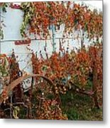 Autumn On The Wagon Metal Print