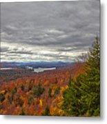 Autumn On Top Of Mccauley Mountain Metal Print
