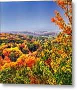 Autumn Over The Rolling Hills Metal Print