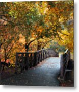 Autumn Overpass Metal Print
