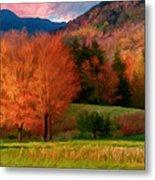 Autumn Pasture Metal Print