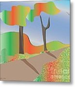 Autumn Path Metal Print