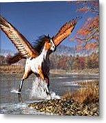 Autumn Pegasus Metal Print