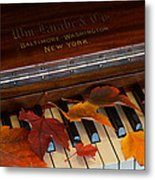 Autumn Piano 1 Metal Print