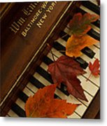 Autumn Piano 11 Metal Print